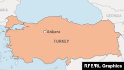Карта Турции.