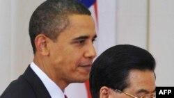 Barak Obama və Çin lideri Hu Cintaoy, Pekin. 17 noyabr 2009