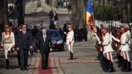 Preşedintele ales Nicolae Timofti la ceremonia de inaugurare în funcţie, 23 martie 2012