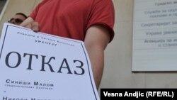 """Ostavku Siniše Malog građani Beograda su tražili zbog projekta """"Beograd na vodi"""", fotografija sa protesta u Beogradu u julu 2016"""
