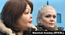 Natalija Slekišina s advokaticom Ajman Umarovom koja takođe zastupa Viktoriju Berkhodžajevu