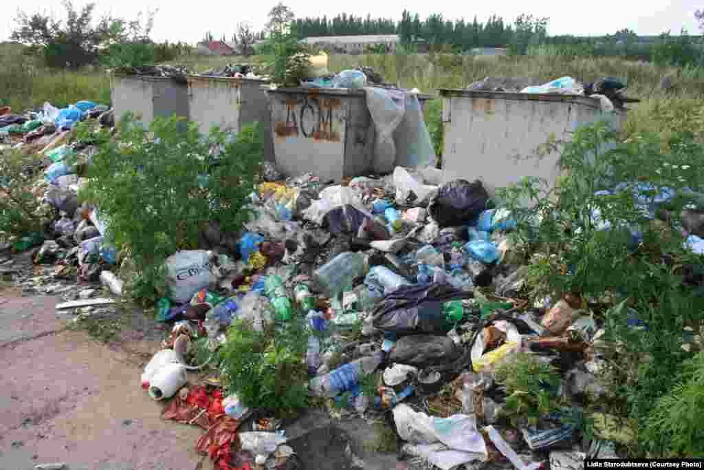 Солнечный ықшам ауданының Красногоровка көшесі.
