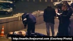 Öldürülmüş Boris Nemtsov (Social media)