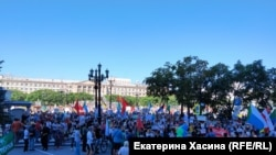 People have been protesting in Khabarovsk since July.