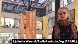 Олександра Дворецька, виконавчий директор «Восток-SOS» під час відвідин празького офісу Радіо Свобода, 10 листопада 2017 року