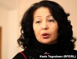 «Желтоқсан–86» ұйымының басшысы Гүлбаһрам Жүніс. Алматы, 9 қараша 2011 жыл.