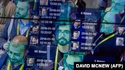Demonstracija uživo koja koristi vještačku inteligenciju i prepoznavanje lica u zbijenoj gomili firme tehnološkoj konvenciji u Las Vegasu u januarau 2019.