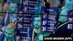 Демонстрация новых технологий по распознаванию лиц на выставке в Лас-Вегасе в январе 2019 года