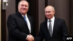 Майк Помпео и Владимир Путин, 14 мая 2019 г.