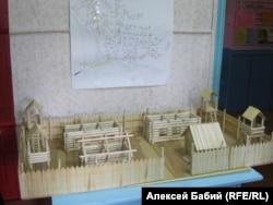 Макет Тугачинского лагеря, восстановленный по чертежам