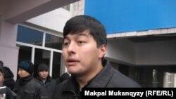 Азат Абыкай, студент факультета журналистики Казахского национального университета имени Аль-Фараби. Алматы, 18 февраля 2011 года.