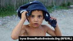 Ромський хлопчик в Ужгороді, липень 2018 року