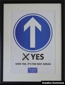 """Плакат, призывающий избирателей поддержать на референдуме """"Соглашение Страстной пятницы"""""""