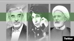 مهدی کروبی، زهرا رهنورد و میرحسین موسوی
