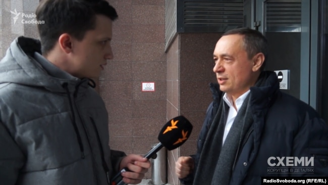 Микола Мартиненко не охоче спілкувався з журналістом «Схем»