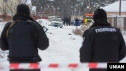 Місце перестрілки у селі Княжичі під Києвом, 4 грудня 2016 року