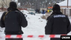 Місце стрілянини в селі Княжичі. Київська область, 4 грудня 2016 року