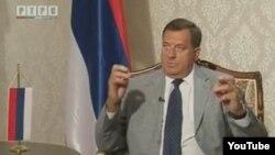 Milorad Dodik u programu RTRS-a, fotoarhiv