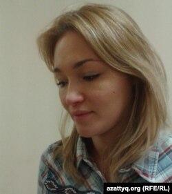 Ақтөбелік жас кәсіпкер Альбина Сарманова. Ақтөбе, 11 қазан 2014 жыл.