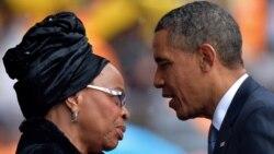 اوباما به بیوه نلسون ماندلا ادای احترام میکند