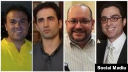 """Заключенные в Иране, имеющие американо-иранское гражданство. На снимке второй справа – журналист """"Вашингтон пост"""" Джейсон Резаян."""
