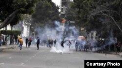 مواجهات في شوارع القاهرة 25/1/2015