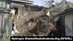 Ще одна жителька Одеси виявилась заблокованою у власній квартирі – дерево впало на стару домівку й перегородило вихід