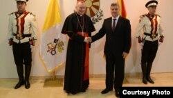 Претседателот Ѓорге Иванов го прими државниот секретар на Ватикан, кардинал Пјетро Паролин