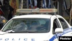 Ճանապարհային ոստիկանության ավտոմեքենա Երևանում, արխիվ