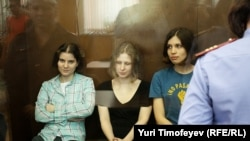 Three members of Pussy Riot received two-year sentences.