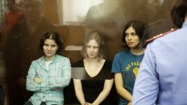 The three members of Pussy Riot were each jailed for two years.