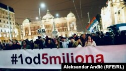 Šesti protest u Beogradu