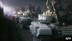 Російські танки виходять з Південної Осетії, серпень 2008 року