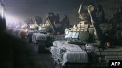 Gürcüstanda Rusiya tannkları. 23 avqust, 2008