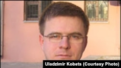 Belarus opposition activist Uladzimir Kobets was released today from KGB custody.