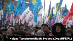 Ілюстраційне фото (мітинг опозиції у Львові, 16 березея 2013 року