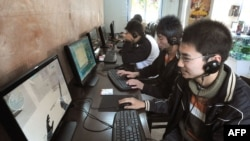 The scene at an Internet cafe in Beichuan, China (file photo)