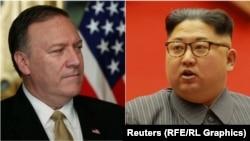 Drejtori i CIA-së, Mike Pompeo (majtas) dhe lideri verikorean, Kim Jong Un.