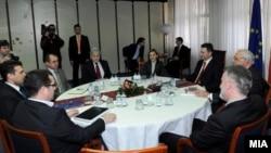 Лидерска средба одржана пред првиот круг на изборите