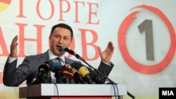 Conservative Prime Minister Nikola Gruevski (file photo)