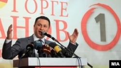 Conservative Prime Minister Nikola Gruevski (file photo)