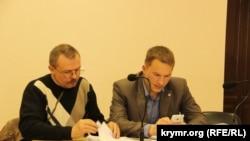 Vasiliy Ganış ve advokatı Andrey Rudenko