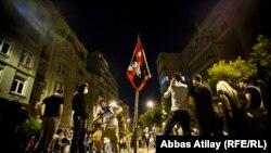 Участники акций протеста на площади «Таксим» в Стамбуле.