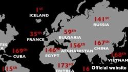 По итогам 2008 года Россия заняла 141 место на атласе свободы прессы