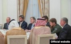 Глава Чечни Рамзан Кадыров принял участие во встрече президента Владимира Путина с наследным принцем Королевства Саудовская Аравия Мухаммедом бен Сальманом Аль Саудом