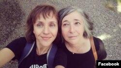 Ия Кива и Евгения Канищева