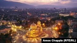 The Aleksandr Nevsky Cathedral in Bulgaria's capital, Sofia