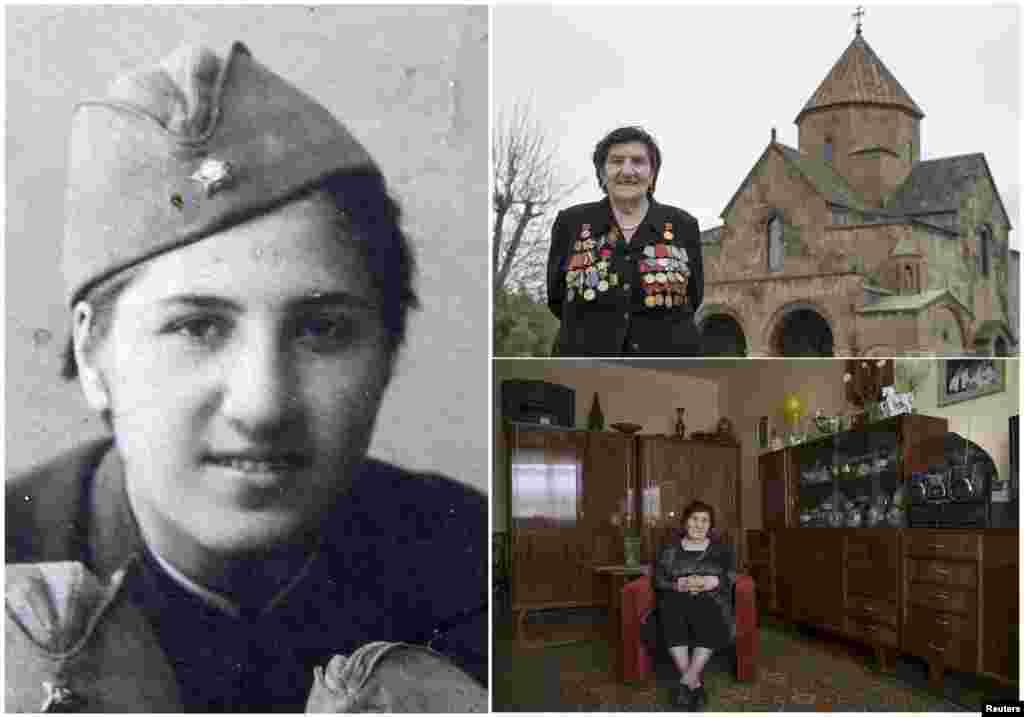 Розалия Абгарян, 91 год. Армянка служила в пехотном подразделении Красной армии с апреля 1941 по декабрь 1945 года. Принимала участие в освободительном Пражском восстании.