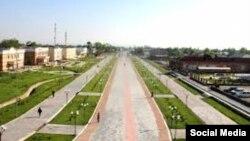 Центральные улицы Зааминского района в Джизакской области Узбекистана.