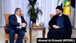 Iraq - Press conference held by the President of the Islamic Supreme Council Ammar al-Hakim and the head of the delegation of the Kurdish negotiators Hoshyar Zebari, Baghdad, 31Aug2014